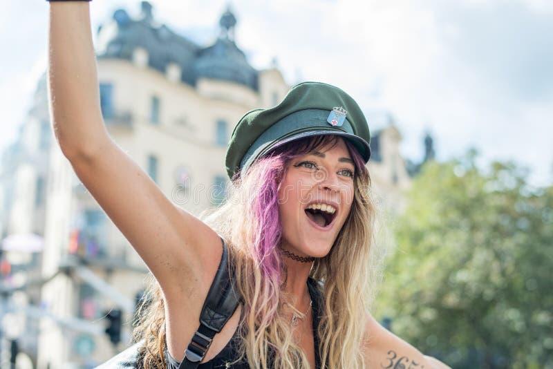 EuroPride 2018 с гей-парадом Стокгольма стоковое изображение
