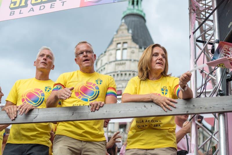 EuroPride 2018 com Éstocolmo Pride Parade imagem de stock
