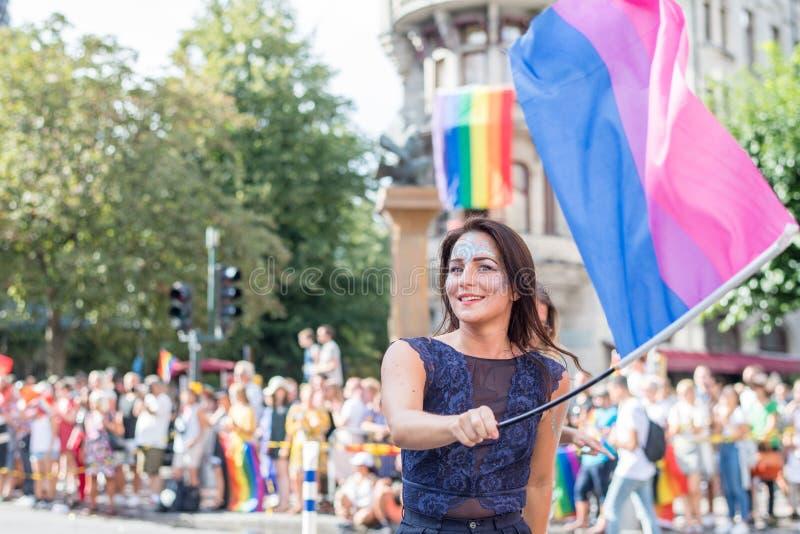 EuroPride 2018 mit Stockholm Pride Parade stockfoto