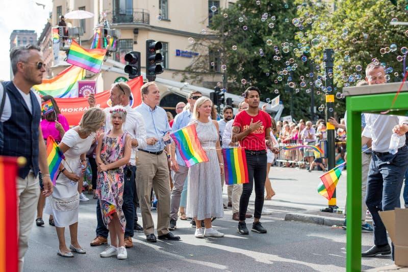 EuroPride 2018 mit Stockholm Pride Parade stockbild
