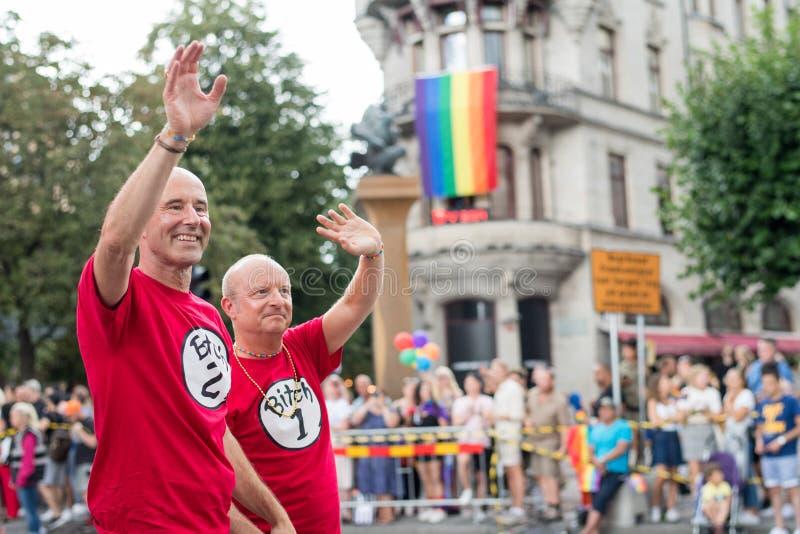 EuroPride 2018 mit Stockholm Pride Parade lizenzfreies stockfoto