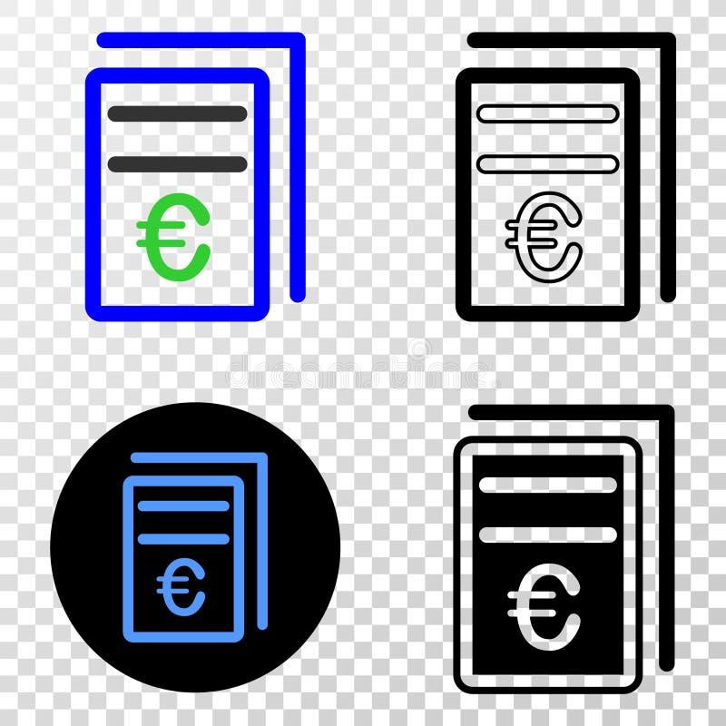 Europriset söker vektorEPS-symbolen med konturversion vektor illustrationer