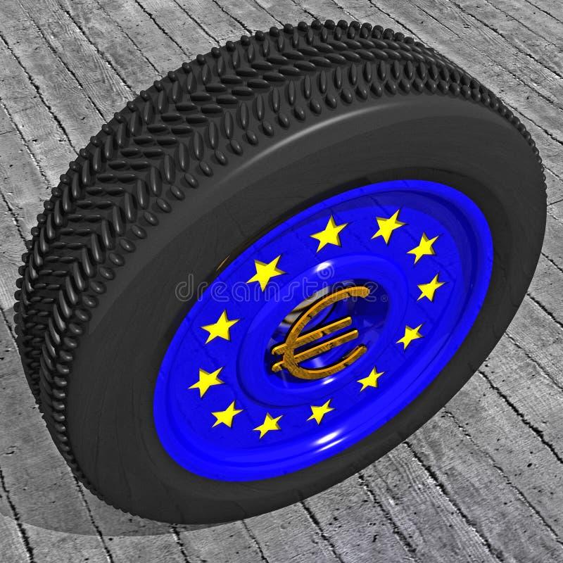 europu ścigać się royalty ilustracja