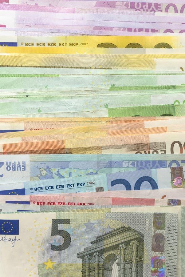 Euroräkningar Fotografering för Bildbyråer