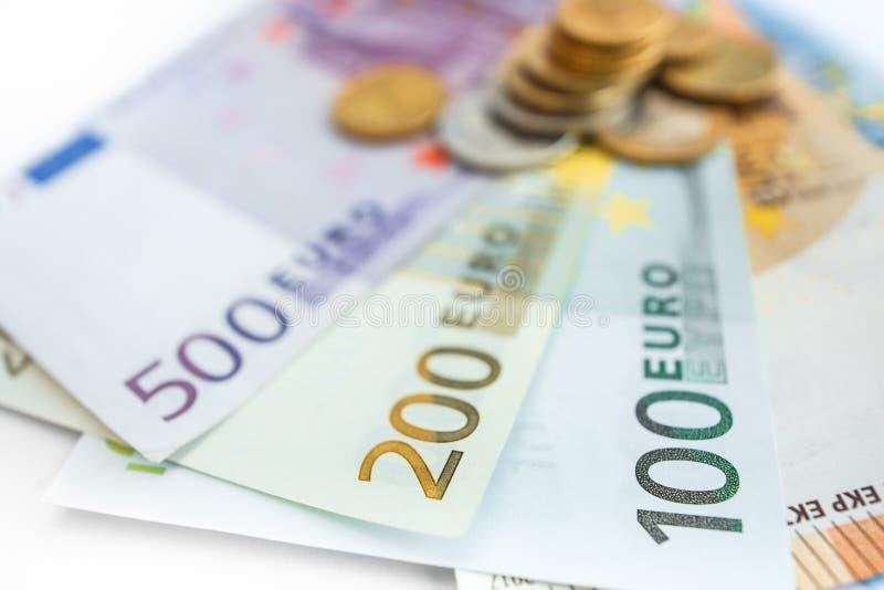 Euroräkningar för bakgrund allra arkivbilder