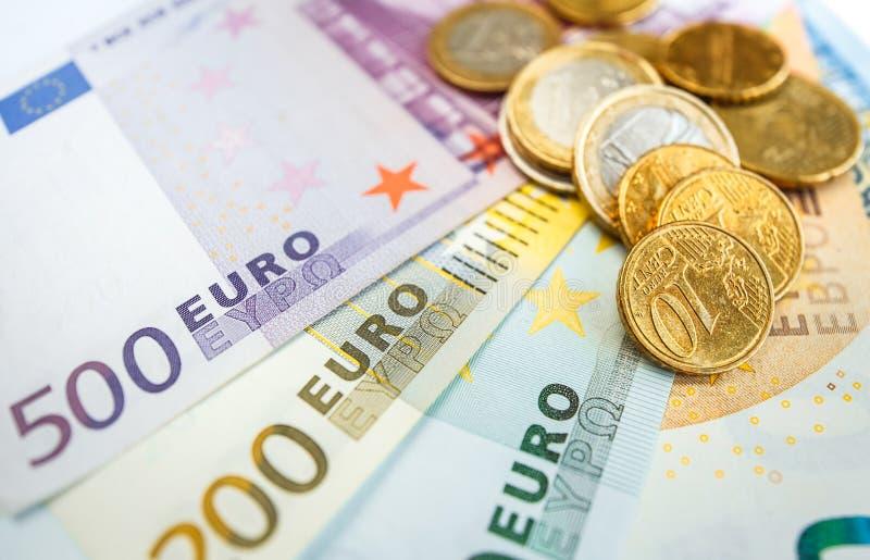 Euroräkningar för bakgrund allra fotografering för bildbyråer