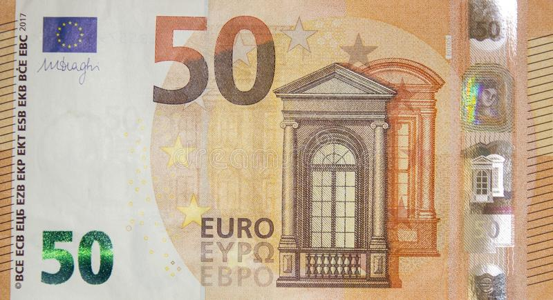 50 euros fotos de archivo libres de regalías