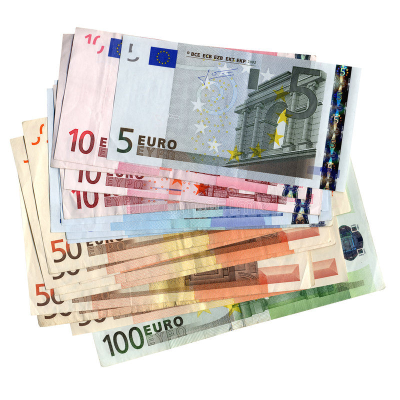 Euros fotos de archivo libres de regalías