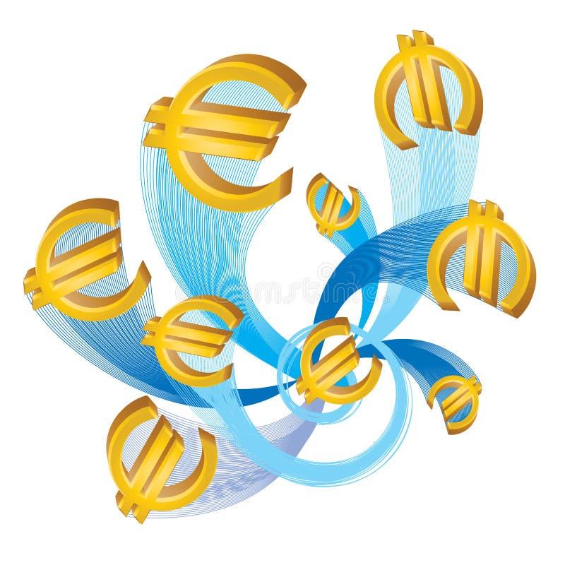 euros royaltyfri illustrationer