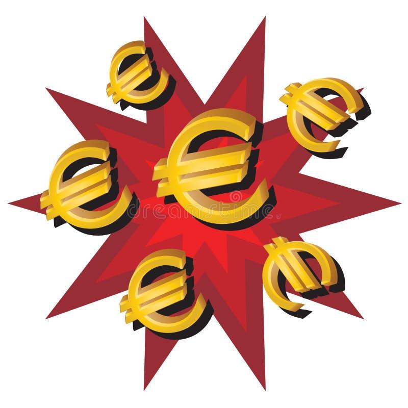 Euros stock illustration