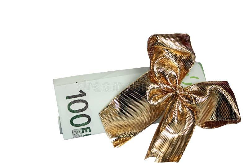 Euros as a gift stock photography