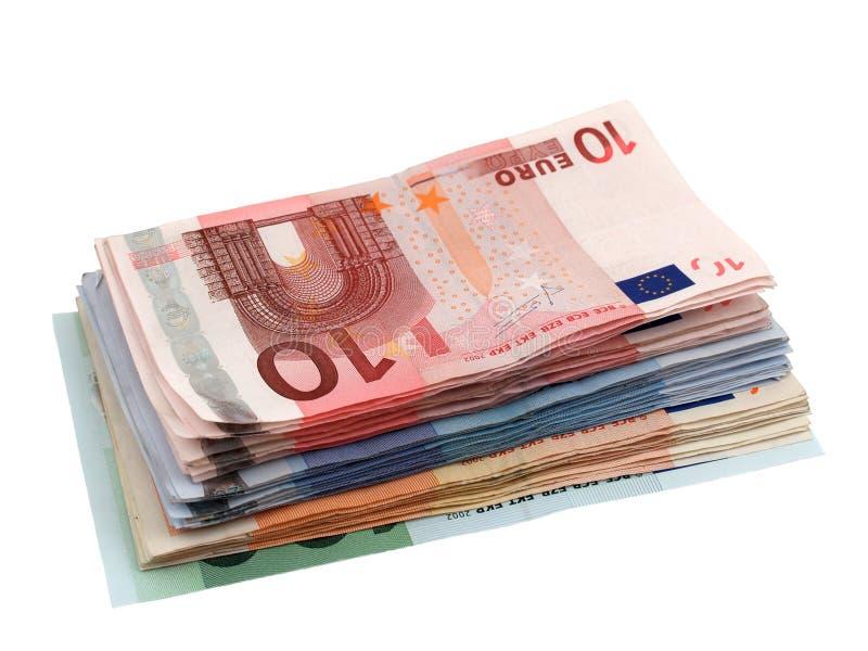 Euros background stock photo
