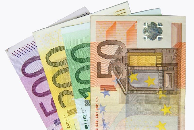 Euros banknotes stock photos