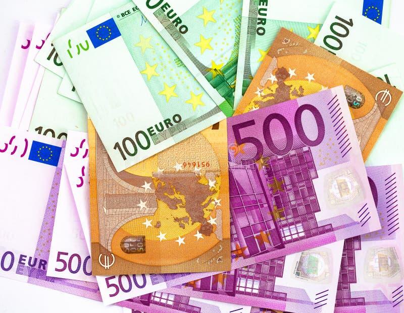 500 100 and 50 euros banknotes royalty free stock photo