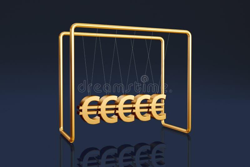 Euros cradle royalty free illustration