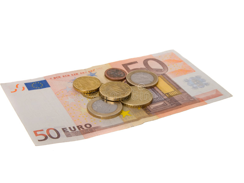 Euros del dinero imagen de archivo libre de regalías