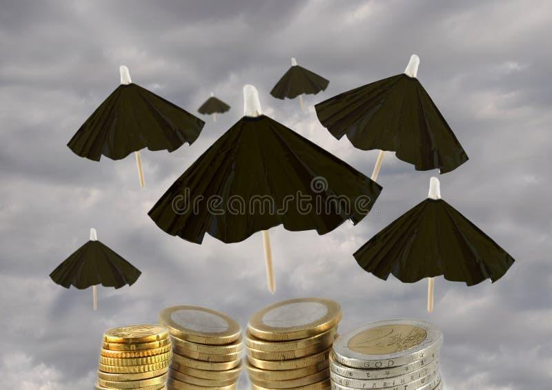 Besparing euroen royaltyfria bilder