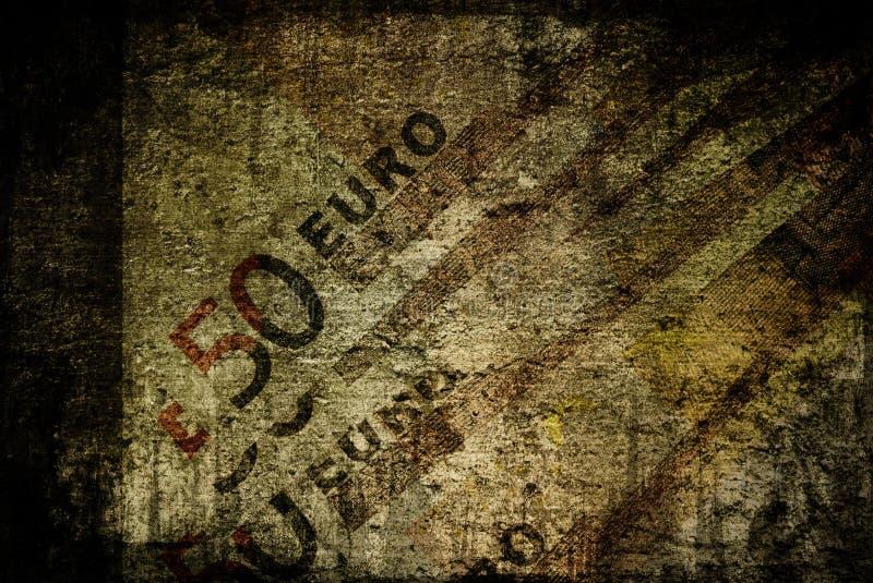 Euros grunges illustration libre de droits