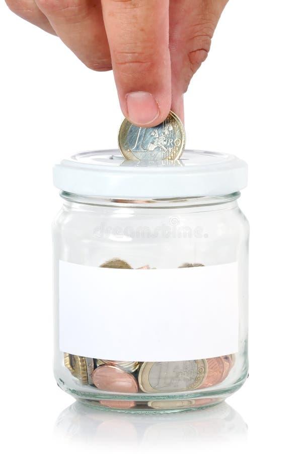 Free Euros In Saving Jar Royalty Free Stock Images - 15074119