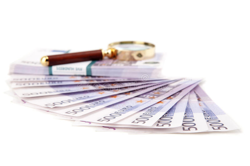 Download Euros and loupe stock photo. Image of up, union, wealth - 28277364