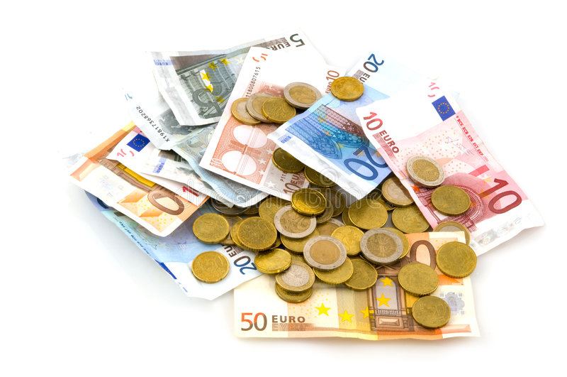 euros många arkivfoton