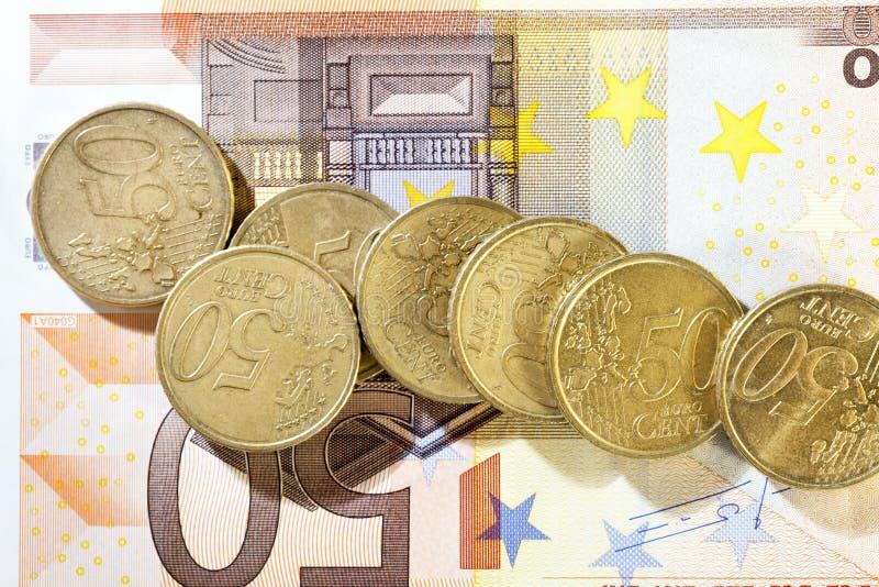 euros, plan rapproché photos libres de droits