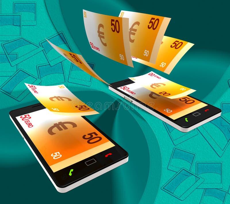 Euros Transfer Indicates Exchanging Money e contanti royalty illustrazione gratis