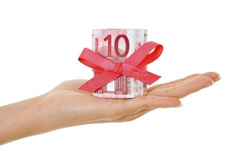 eurospengarpresent arkivfoto