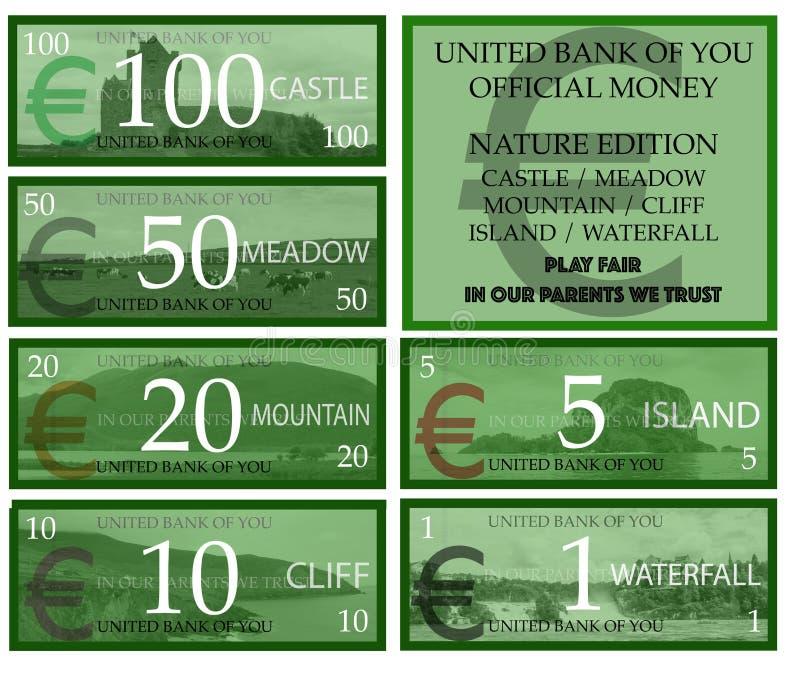 Eurospielgeld stock abbildung