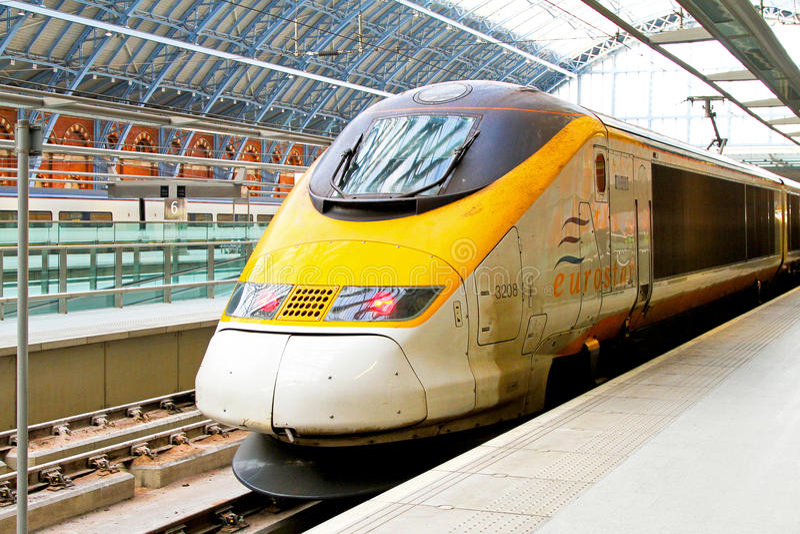 Eurostar platform stock photography