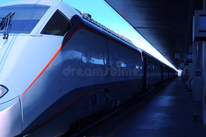 Download Eurostar at stop stock photo. Image of termini, fast, italy - 2912144