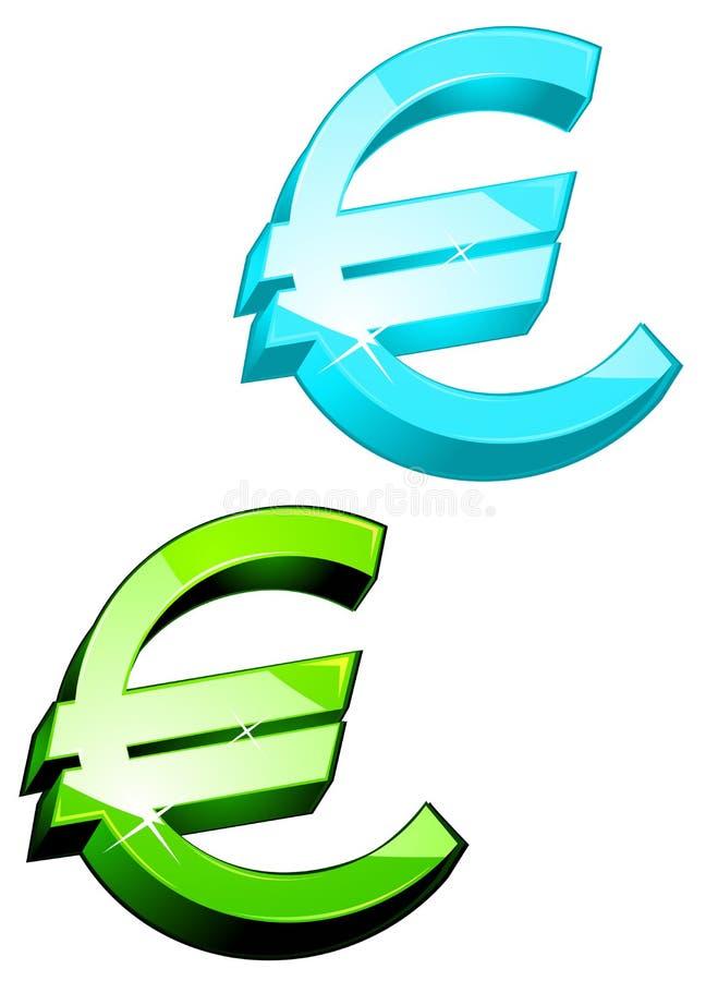 eurosymboler stock illustrationer