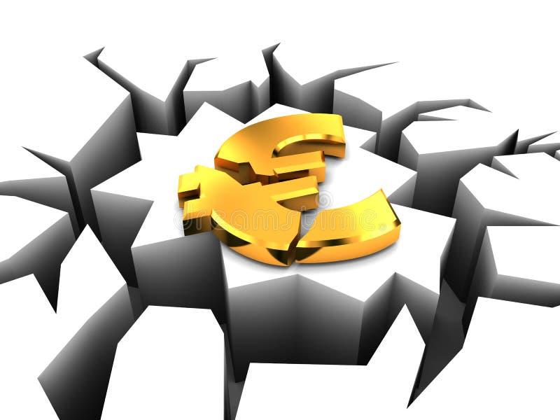 Eurosystemabsturz stock abbildung