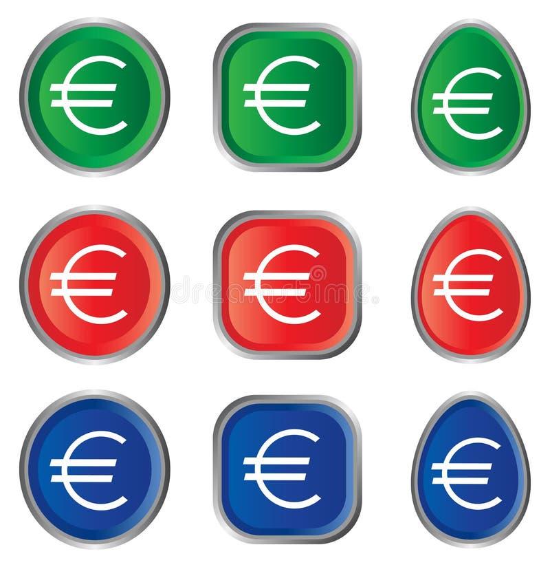 eurotecken vektor illustrationer