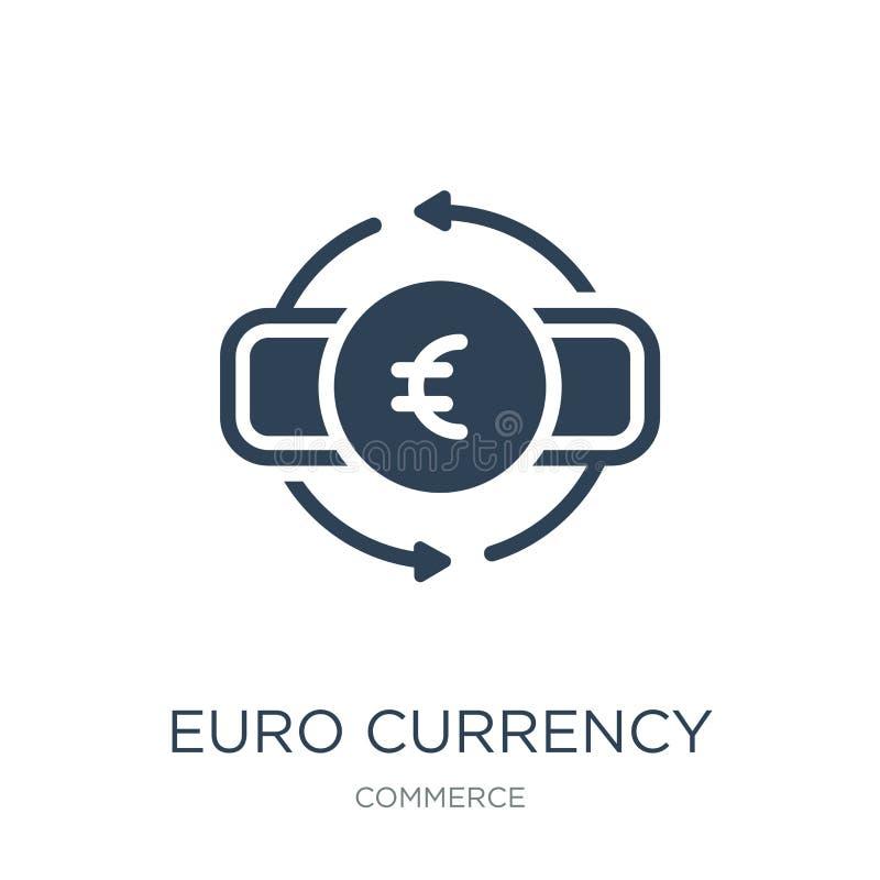 eurovalutasymbol i moderiktig designstil eurovalutasymbol som isoleras på vit bakgrund enkel symbol för eurovalutavektor och stock illustrationer