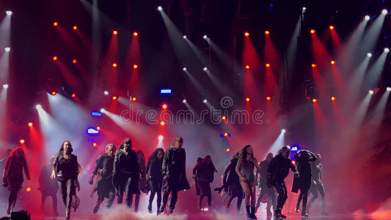 Eurovisie in de Oekraïne, Kyiv 05 13 2017 redactie Ruslanazonden royalty-vrije stock afbeelding