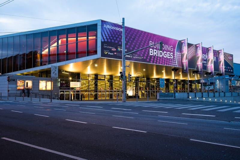 Eurovisie-Liedwedstrijd 2015 in Wenen, beroemde Europese mede muziek royalty-vrije stock afbeeldingen