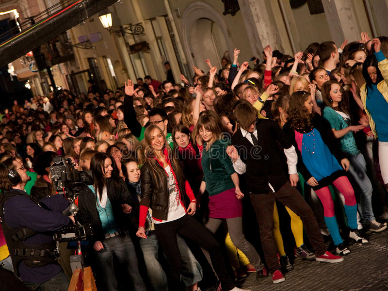 Eurovision flash mob dance moments royalty free stock image