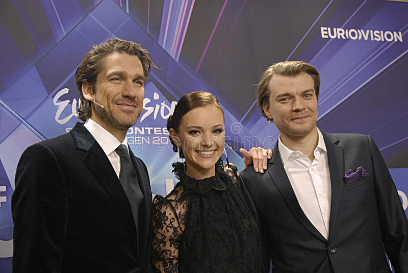 EUROVISION SONG CONTEST 2014. COPENHAGEN /DENMARK- 04 February 2014 _Danish radion national broadcasting unveils today Eurovision song contest 2014 hosts royalty free stock photos