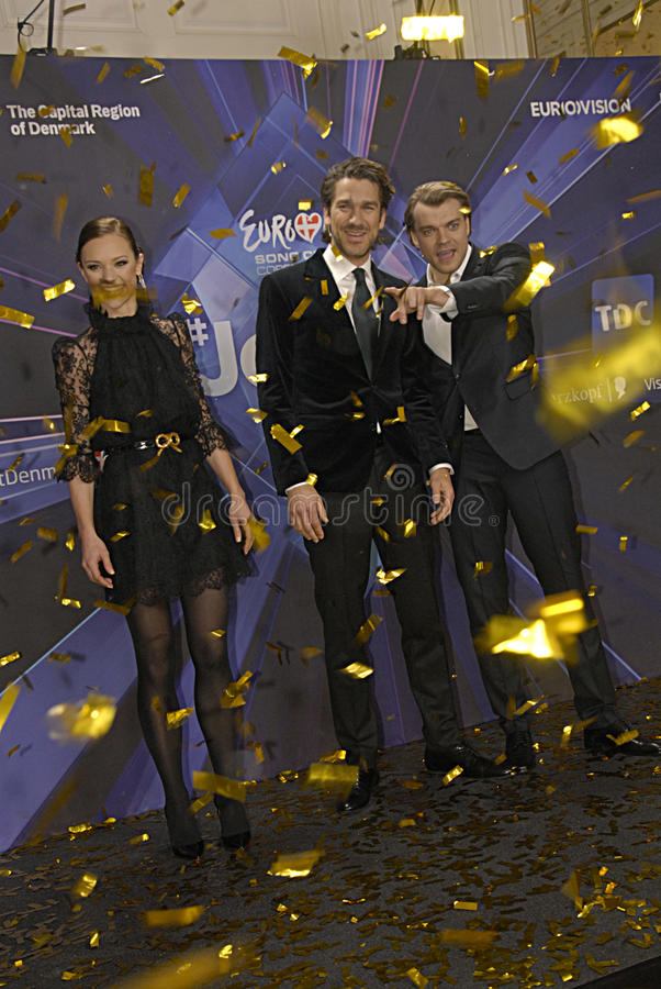 EUROVISION SONG CONTEST 2014. COPENHAGEN /DENMARK- 04 February 2014 _Danish radion national broadcasting unveils today Eurovision song contest 2014 hosts royalty free stock images