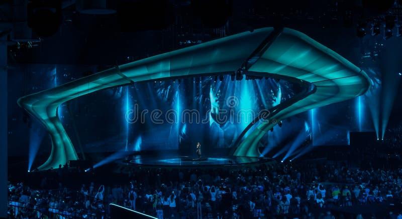 Eurovision 2017 in Ukraine stock photo