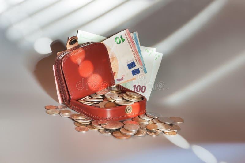 Download EuroWallet στοκ εικόνα. εικόνα από πλούσιος, χρηματοδότηση - 105403417