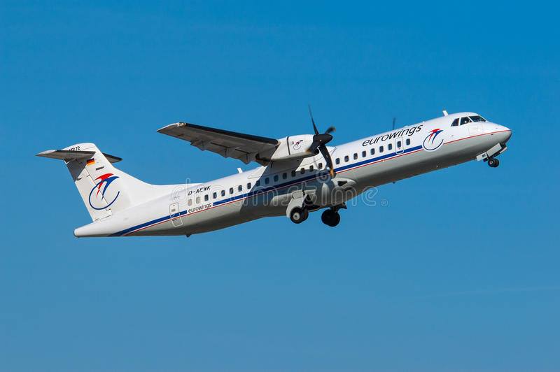 Eurowings ATR-72 immagine stock