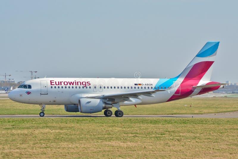 Eurowings samolotu widok obrazy royalty free