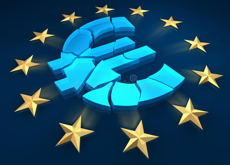 Eurozone stock illustratie