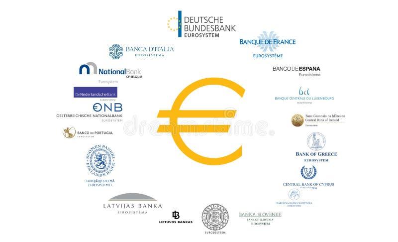 Eurozoneconcept stock illustratie