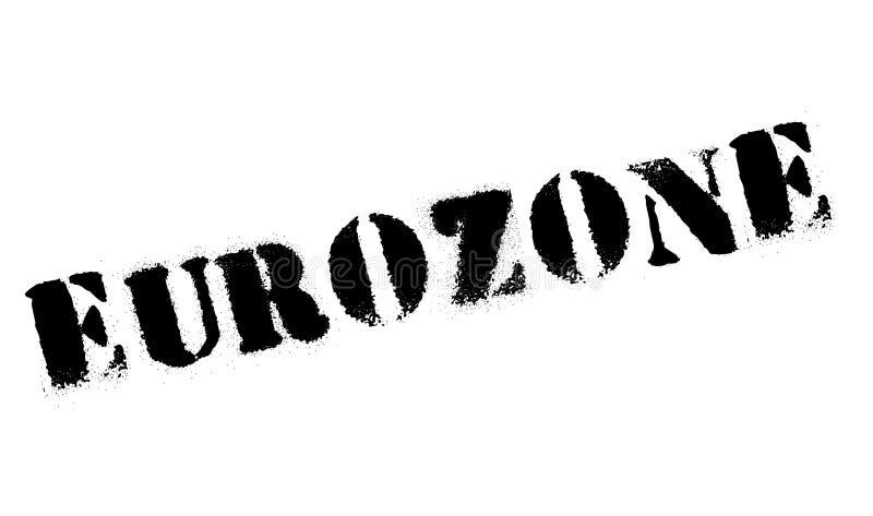 Eurozonestempel lizenzfreie stockbilder