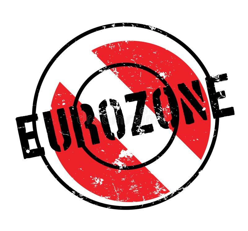 Eurozonestempel stock abbildung