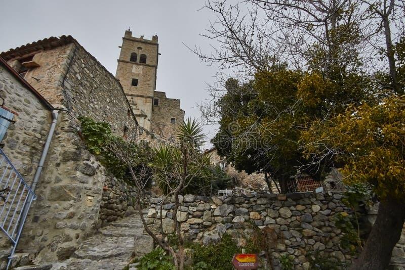 Eus Village, France stock images