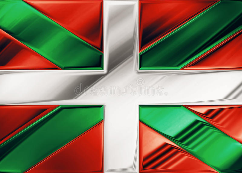 Euskadi flag. Spain symbol indipendence vector illustration
